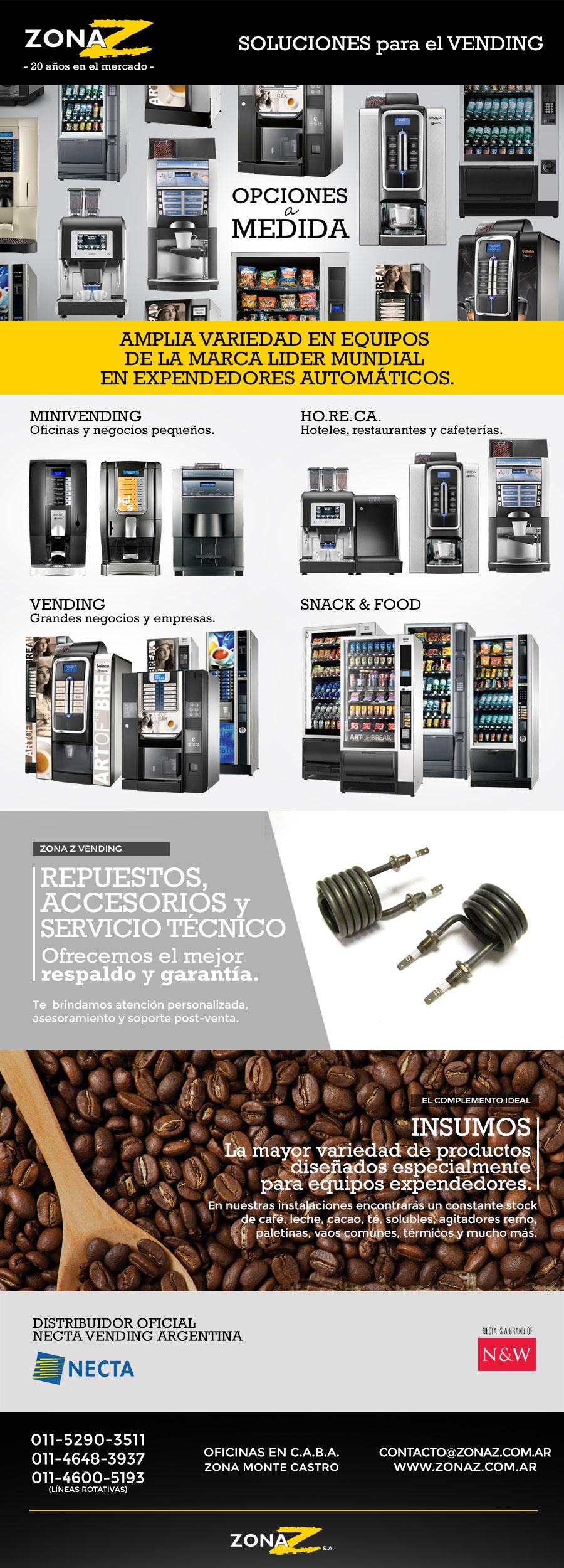 maquinas expendedoras, vending, zona z, zonaz, cafe